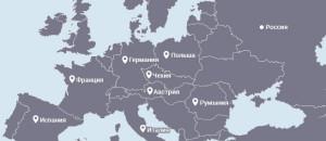 Карта регионов по перевозки грузов